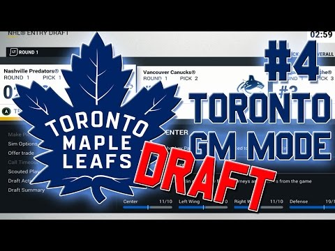 NHL 17 'Franchise Mode' #4 l 2017 DRAFT l Toronto Maple Leafs