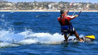 """He is Sailing""Jon & Vangelis kiteboarding key 7 mt a fast kite"