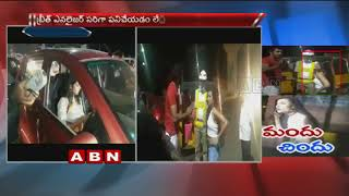 Drunk girl creates ruckus on Road | Hyderabad