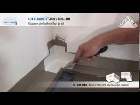 Monter un receveur avec canivelle lux elments youtube - Comment changer un receveur de douche ...