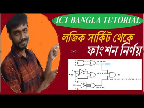 How to write logical function from logical circuit | HSC ICT Bangla Tuttorial