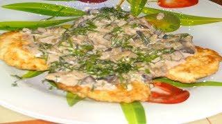 Как приготовить Рубленные котлетки на ужин,  грибной соус готовим котлеты что приготовить на ужин