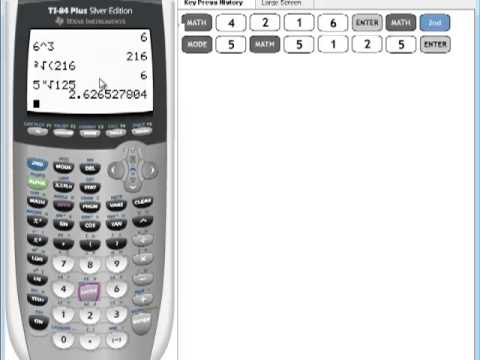 TI-84 Tutorial: Exponentiation  (How to raise any value to any power)