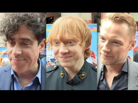 Postman Pat The Movie - World Premiere - interviews inc Stephen Mangan, Rupert Grint & Ronan Keating