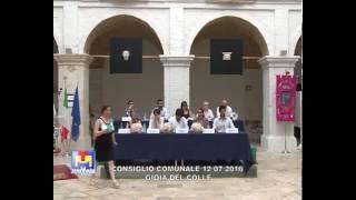 Consiglio Comunale di Gioia del Colle 12 07 2016