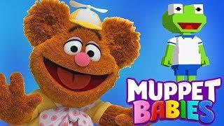 Muppet Babies Fozzie & Kermit Summer Arcade Mini Games - Disney Junior App For Kids