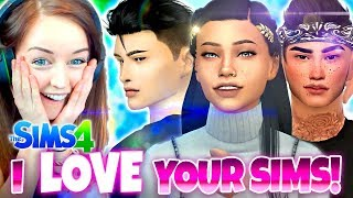 IN LOVE WITH YOUR TOWNIES! 😘 - Sims 4 CAS Challenge!