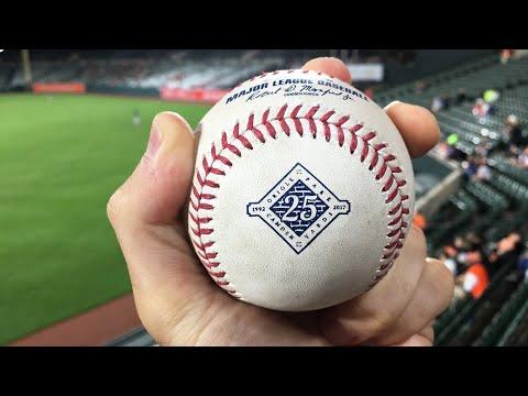Catching my 10,000th baseball at Camden Yards!