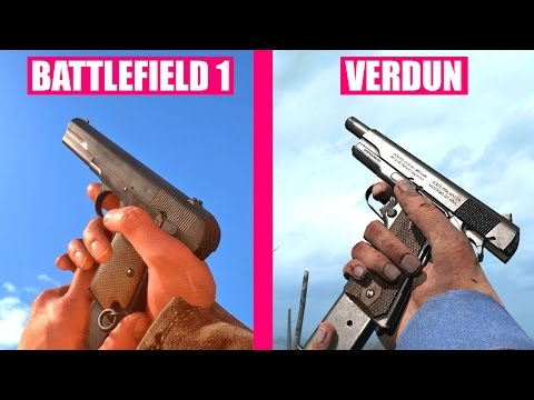 BATTLEFIELD 1 Gun Sounds vs Verdun