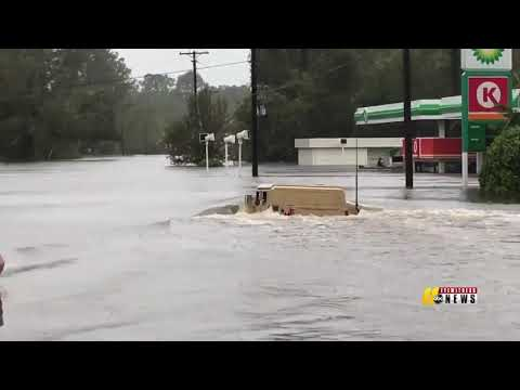 Jacksonville NC, Flooding From Hurricane Florence 9/15/18