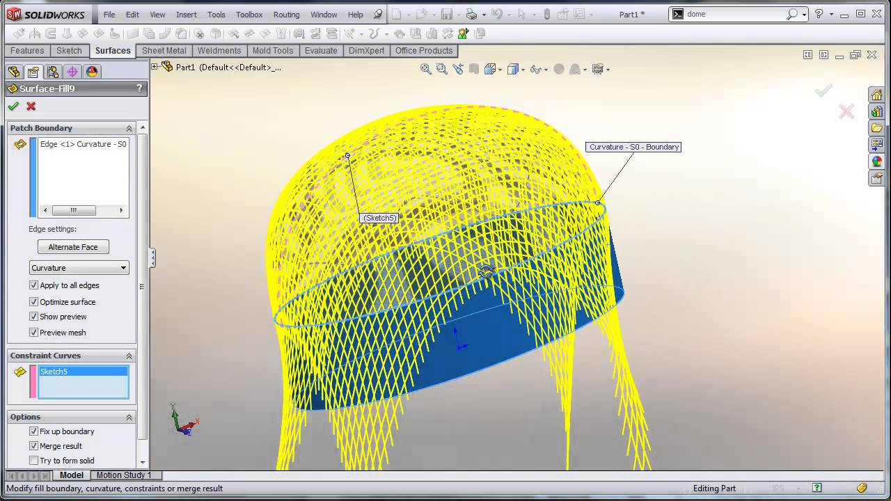 Solidworks Tutorial Surface Fill Tips And Tricks In