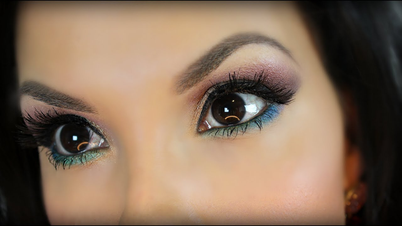 Eye makeup for brunettes with brown eyes