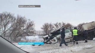 На трассе М-5 столкнулись внедорожник «Лексус» и «Камаз»(Официальный сайт ГТРК