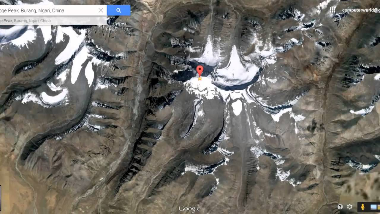 Lord Shivas Mount Kailash View From Satellite Map In Google Earth - Real life satellite view