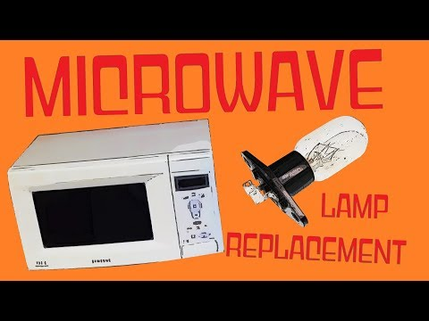 Microwave Oven Lamp Replacement Samsung T170 Light Bulb Uk Youtube