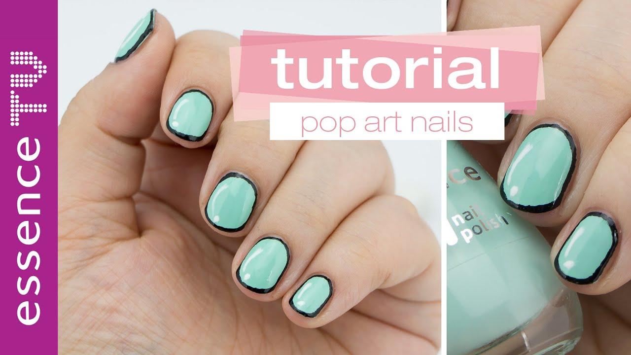 Nageldesign nail art tutorial deutsch pop art nails for Nageldesign tutorial
