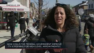 How could the federal government improve its screening for high level appointments?| Outburst