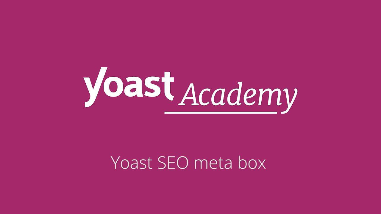 Yoast SEO meta box (classic editor) – Yoast SEO for WordPress training