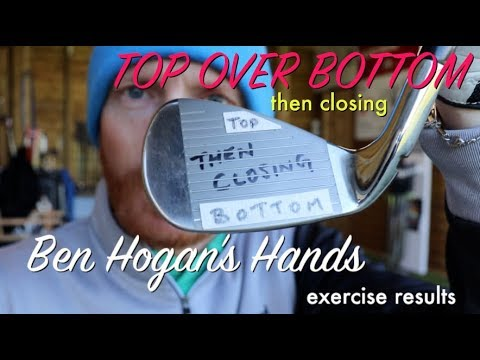 Ben Hogan's hands golf swing drill and exercise results