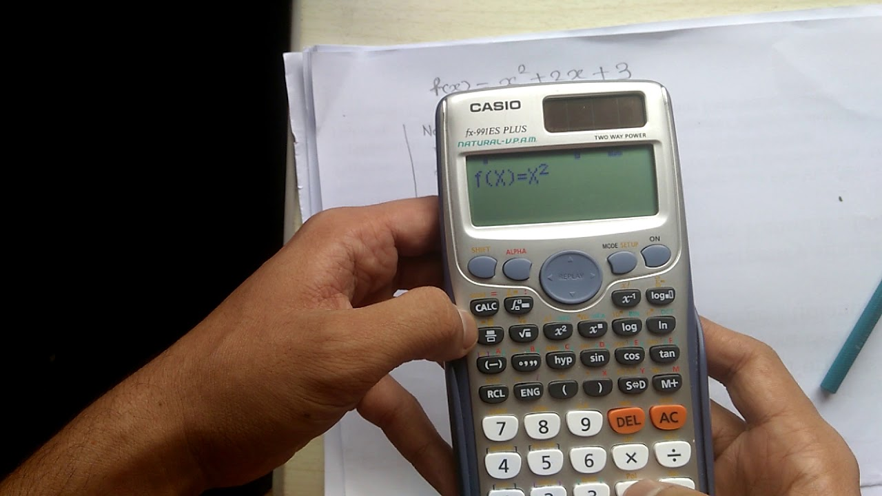 how to use fx 991es calculator