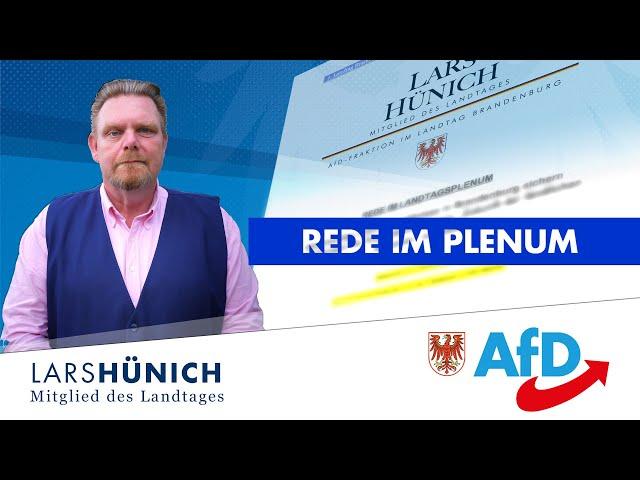 Kenia-Koalition vernachlässigt den Ländlichen Raum – Lars Hünich – Landtag Brandenburg Leg 7