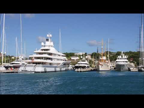 ⛵ Antigua Super Yachts. Le Grand Bleu owned by Roman Abramovich. Яхта Абрамовича.