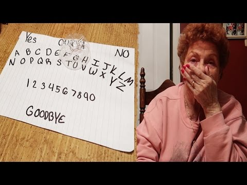 HOMEMADE OUIJA BOARD! WE CONTACTED MY...