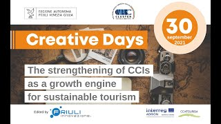 """30.09.2021   Event: """"The strengtheningof CCIs as a growth enginefor sustainable tourism"""""""