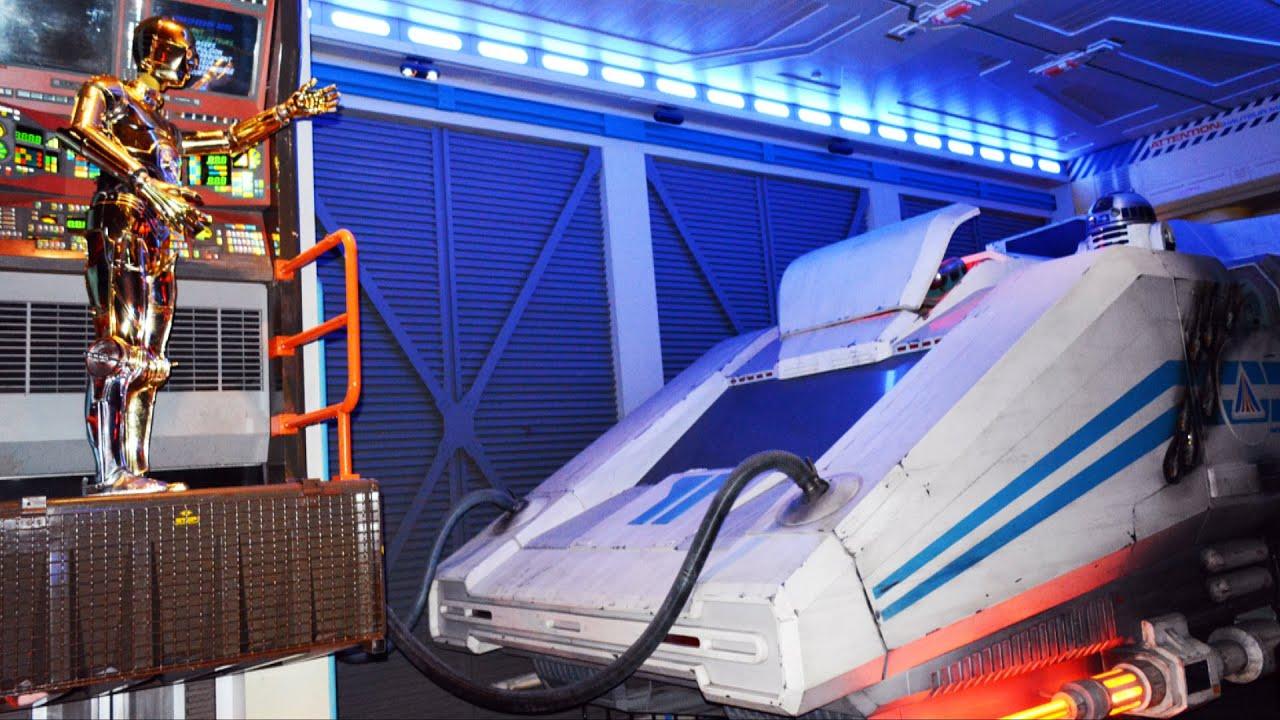 Star Tours Queue At Disneyland Paris Discoveryland Featuring Starspeeder 3000 And C3P0