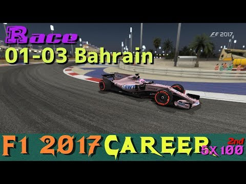 [5x100 Career 2nd] 01-03c Bahrain Race / F1 2017(PC)