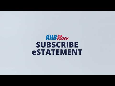 RHB Now Tutorial (8/9): RHB Now e-Statement Subscription - YouTube