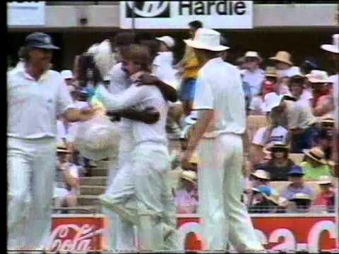 Incredible stumping by Jack Russell 3rd test 1990/91 Ashes