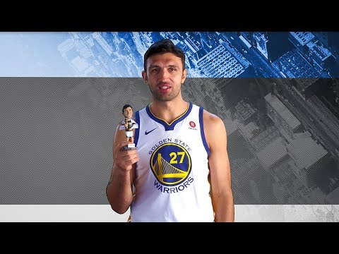 Zaza Pachulia Dishes on his Bobblehead