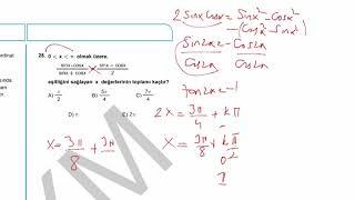 2018 AYT Matematik Testi Soru26-29
