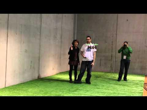 Flone flying at Barcelona's Maker Faire 2016
