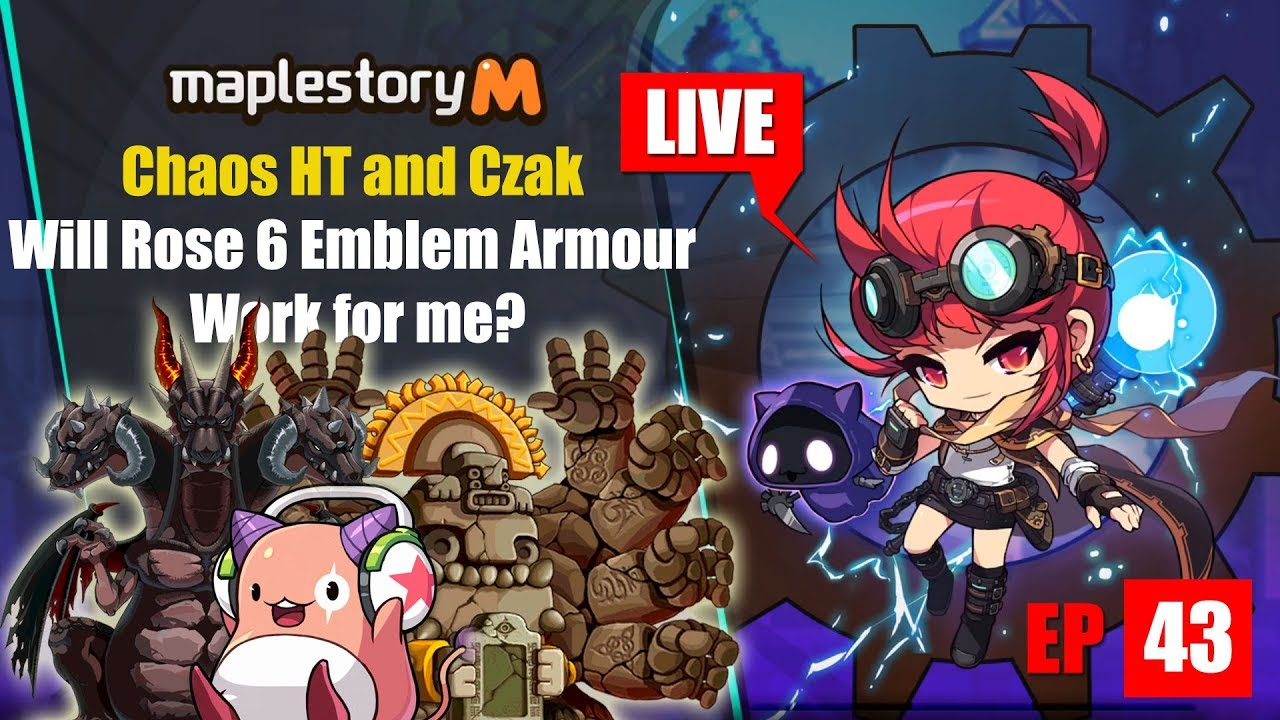 Maplestory m - Rose Event Armour Emblem and Chaos Run Livstream EP 43