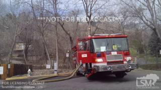 3-19-2017  Boulder, Colorado..  Sunshine Canyon Wildfire Water Airdrops/Picks, Fire Staging..