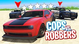 gTA 5 COPS & ROBBERS - Валю на машине из ФОРСАЖА от 20 копов и вожу их за нос!