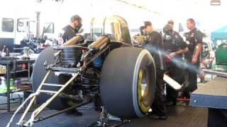 John Force fires up funny car after 15th Championship