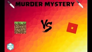 Minecraft Murder Mystery VS ROBLOX Mystère assassiner