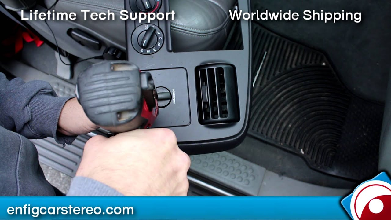 Ford F250/350/450/550 AUX input Installation 2005-2007 - YouTube