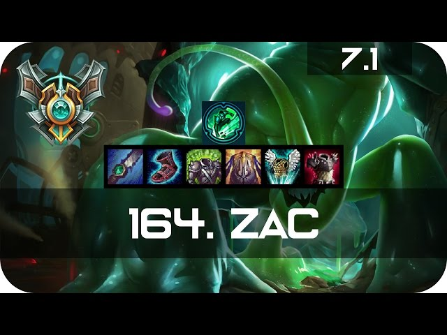 Master Zac Jungle vs Nocturne Season 7 s7 Patch 6.24 2017 Gameplay Guide Build Normals