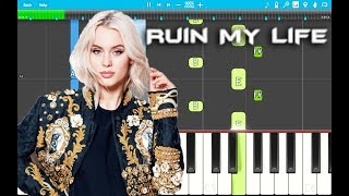 Zara Larsson - Ruin My Life PIANO Tutorial EASY (Piano Cover)