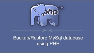 How to Export and Import MySQL Database using PHP