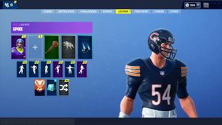 FORTNITE Chicago Bears NFL Skin W/emotes