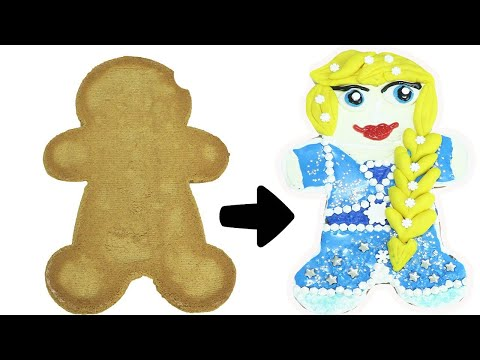 Disney Frozen 2 Elsa DIY Gingerbread Cookie Decorating | Toy Caboodle