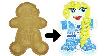 Disney Frozen 2 Elsa DIY Gingerbread Cookie Decorating | Toy Caboodle