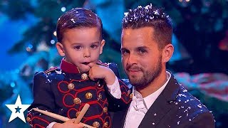 Cutest Baby Drummer Plays A Christmas Carol in the Finals | Got Talent Global