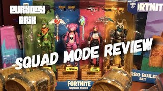 Jazwares Fortnite Squad Mode 4 pack 4'' scale action figures Toy Review with Cuddle Team Leader!