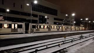 Oslo-Akershus T-bane - Linje 1R,2,3,4 + X: Brynseng T-banestasjon (Kaosserie) 02-3-2018 [HD]